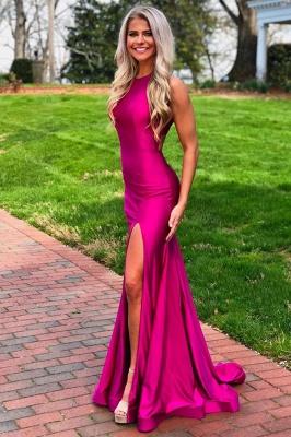 Slits Mermaid Sleeveless Amazing Prom Dresses_1