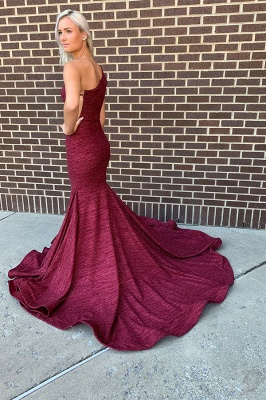 Mermaid Alluring One-shoulder Long Prom Dresses_2