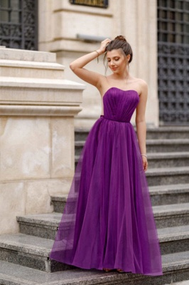 Off-the-shoulder Mermaid Burgundy Backless Prom Dress_3