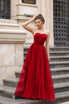 Off-the-shoulder Mermaid Burgundy Backless Prom Dress_1