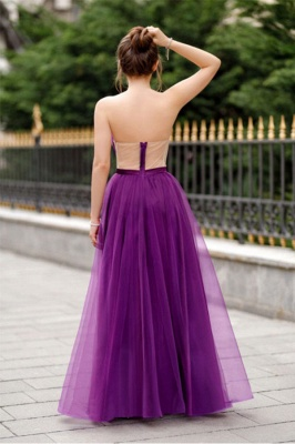 Off-the-shoulder Mermaid Burgundy Backless Prom Dress_5