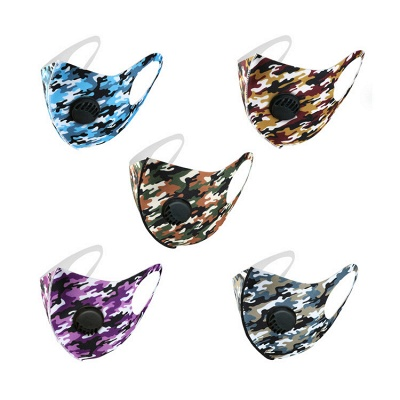 10 pcs Comfortable Colorful Print With Valve And Filter Face Mask