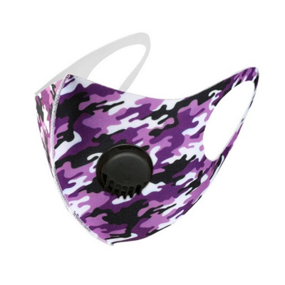 10 pcs Comfortable Colorful Print With Valve And Filter Face Mask_3