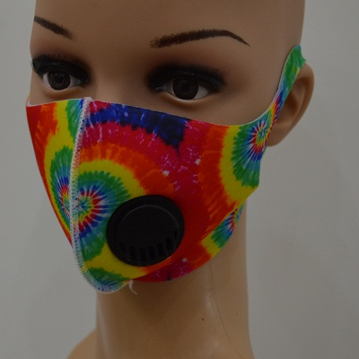 10 pcs Comfortable Colorful Print With Valve And Filter Face Mask_5