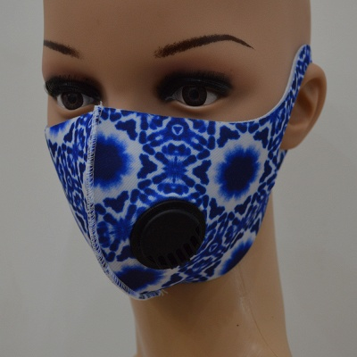 10 pcs Comfortable Colorful Print With Valve And Filter Face Mask_4