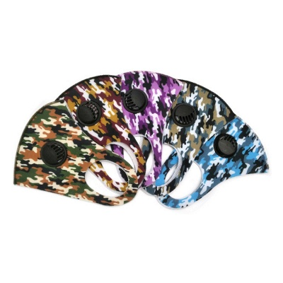 10 pcs Comfortable Colorful Print With Valve And Filter Face Mask_17