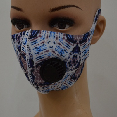 10 pcs Comfortable Colorful Print With Valve And Filter Face Mask_19