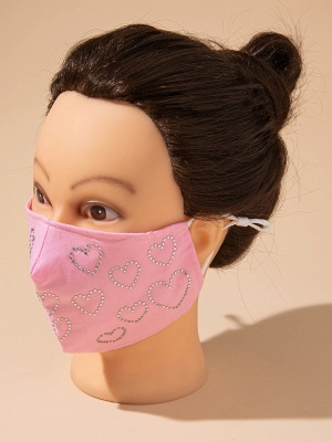 10 Pcs Crystal Sweetheat Shape Face Mask_2