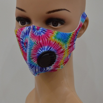 10 pcs Comfortable Colorful Print With Valve And Filter Face Mask_6