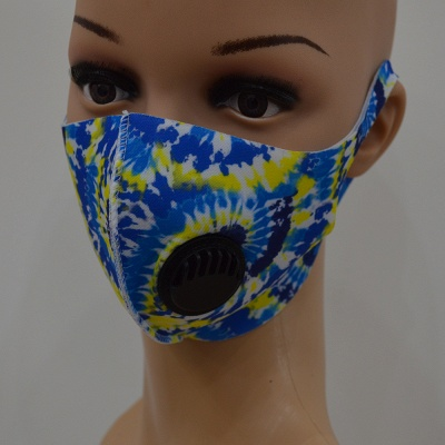 10 pcs Comfortable Colorful Print With Valve And Filter Face Mask_1