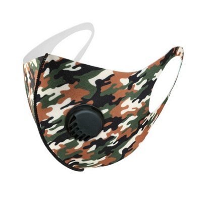 10 pcs Comfortable Colorful Print With Valve And Filter Face Mask_14