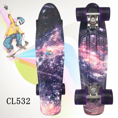 Child Small Fish board Skateboard With LED Wheel_5