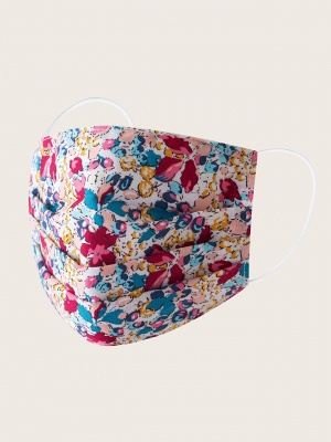 20 Pcs Floral Print Face Mask_1
