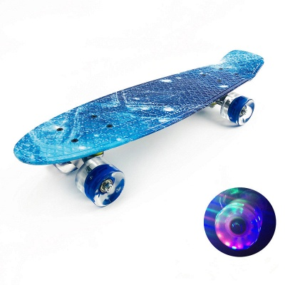Popular LEd  Wheel  Plastic Kids Skate Board