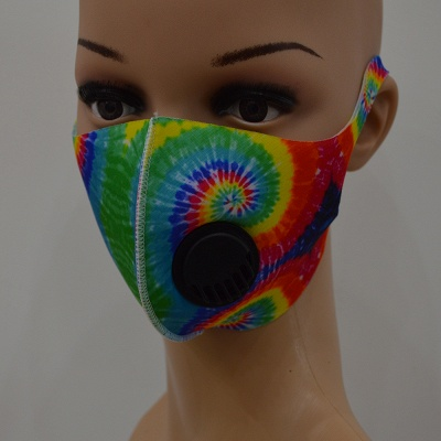 10 pcs Comfortable Colorful Print With Valve And Filter Face Mask_2