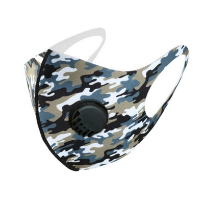 10 pcs Comfortable Colorful Print With Valve And Filter Face Mask_15