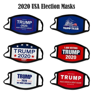 100 pcs Face Masks American Election Supplies Dustproof Print Protective Designer Masks