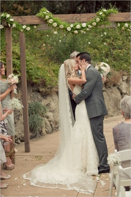 Simple Lace A-line Wedding Dresses | Straps Sleeveless Bridal Gowns_3