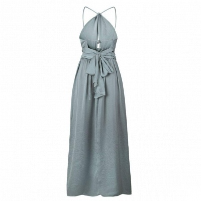 Sexy Slit A-Line Bridesmaid Dresses | Halter Ruched Chiffon Maid Of The Honor Dresses_7