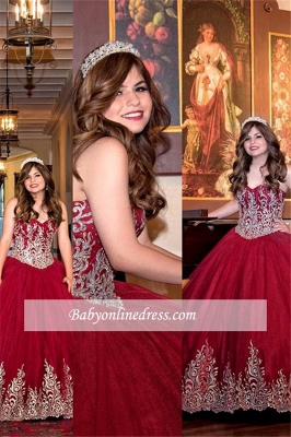 Beautiful Sweetheart Ball-Gown Strapless Sleeveless Appliques 15 Dresses_3