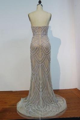 Luxury Spaghetti Straps Evening Gowns | Shiny Beading Mermaid Prom Dresses_3