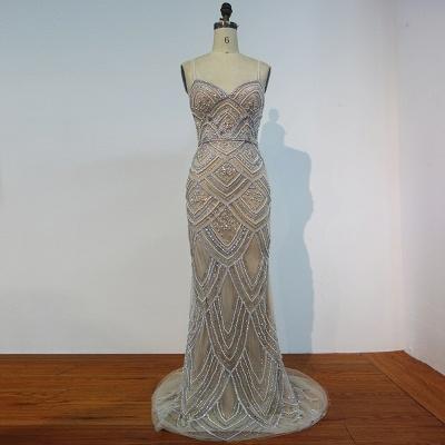 Luxury Spaghetti Straps Evening Gowns | Shiny Beading Mermaid Prom Dresses_4