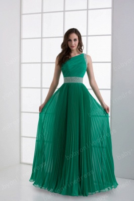 Wholesale 2021 Stunning One Shoulder Crystal Ruched Chiffon Evening Dresses DH4240_1