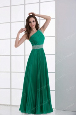 Wholesale 2021 Stunning One Shoulder Crystal Ruched Chiffon Evening Dresses DH4240_3