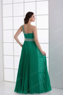 Wholesale 2021 Stunning One Shoulder Crystal Ruched Chiffon Evening Dresses DH4240_5