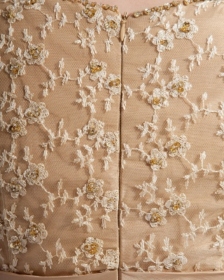 Absorbing V-Neck Floor Length Taffeta Applique Beading Mothers of Bride & Special Guests Dress_2
