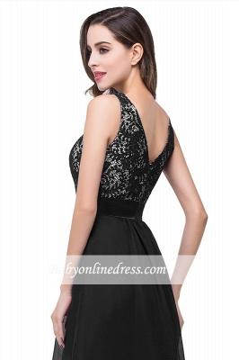 Sleeveless Appliques Lace Elegant Chiffon Long Evening Dress_6