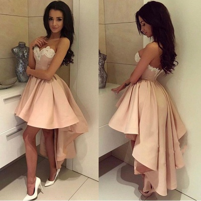 Modern Sweetheart Lace High-low Ball-Gown Cocktail Dress_4
