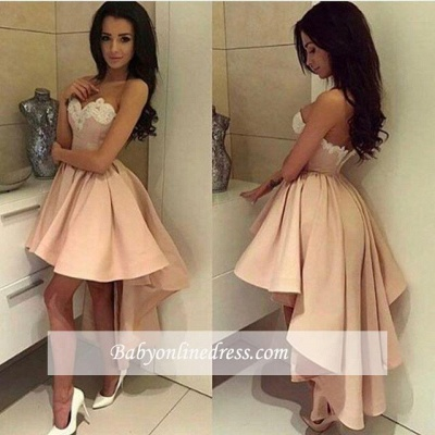 Modern Sweetheart Lace High-low Ball-Gown Cocktail Dress_3