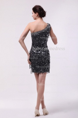 Inexpensive Sexy Gowns For Proms Wholesale 2021 One Shoulder Beaded Sequins Short Dresses For Sale BO0833_4