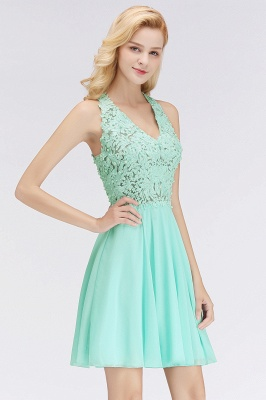 Cheap A-Line Homecoming Dresses | Sexy Lace Beading Short Chiffon Cocktail Dresses_7