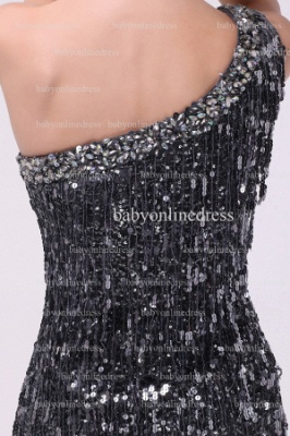 Inexpensive Sexy Gowns For Proms Wholesale 2021 One Shoulder Beaded Sequins Short Dresses For Sale BO0833_5