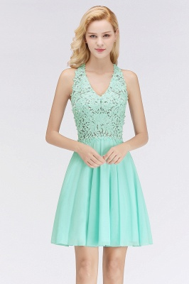 Cheap A-Line Homecoming Dresses | Sexy Lace Beading Short Chiffon Cocktail Dresses_5