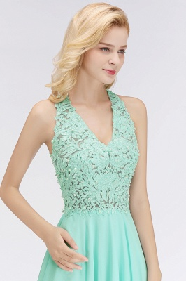 Cheap A-Line Homecoming Dresses | Sexy Lace Beading Short Chiffon Cocktail Dresses_8