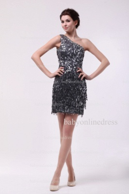 Inexpensive Sexy Gowns For Proms Wholesale 2021 One Shoulder Beaded Sequins Short Dresses For Sale BO0833_1