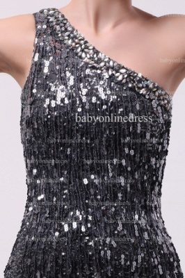 Inexpensive Sexy Gowns For Proms Wholesale 2021 One Shoulder Beaded Sequins Short Dresses For Sale BO0833_2