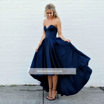 Amazing Sleeveless A-line Strapless Sweetheart Hi-lo Ball-Gown Evening Dresses_1