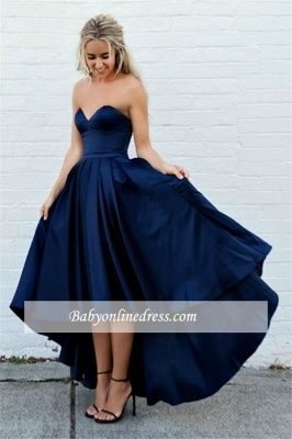 Amazing Sleeveless A-line Strapless Sweetheart Hi-lo Ball-Gown Evening Dresses_2