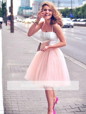 2021 Sexy Spaghetti-Strap Pink White Tulle Sleeveless Two-Piece-Homecoming-Dress_4