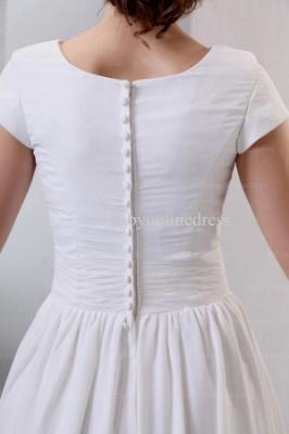 2021 Discount Elegant Dresses For Proms Wholesale Short Sleeves Simple Chiffon Dresses For Sale BO0518_3