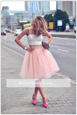 2021 Sexy Spaghetti-Strap Pink White Tulle Sleeveless Two-Piece-Homecoming-Dress_3