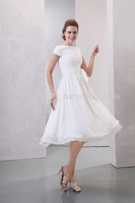 2021 Discount Elegant Dresses For Proms Wholesale Short Sleeves Simple Chiffon Dresses For Sale BO0518_5