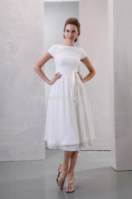 2021 Discount Elegant Dresses For Proms Wholesale Short Sleeves Simple Chiffon Dresses For Sale BO0518_1