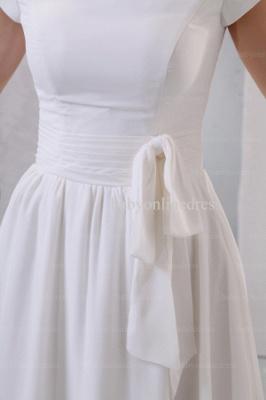 2021 Discount Elegant Dresses For Proms Wholesale Short Sleeves Simple Chiffon Dresses For Sale BO0518_2