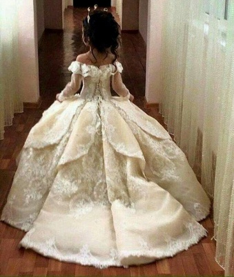 Gothic Ball Gown Flower Girl Dresses | Long Sleeves Girl Party Dresses_4