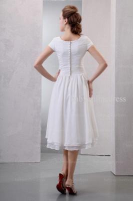 2021 Discount Elegant Dresses For Proms Wholesale Short Sleeves Simple Chiffon Dresses For Sale BO0518_4